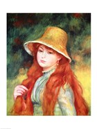 Young girl in a straw hat, 1884