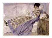 Madame Monet on a Sofa, c.1874