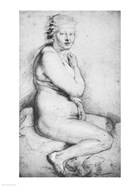 Young nude woman seated