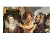 The Medici Cycle: Henri IV  Receiving the Portrait of Marie de Medici detail