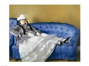 Madame Manet on a Blue Sofa, 1874
