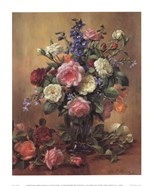 Roses in a Blue Vase