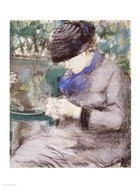 Girl Sitting in the Garden Knitting, 1879