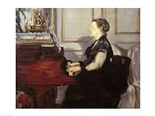 Madame Manet at the Piano, 1868