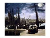 Moonlight on Boulogne Harbour, 1868