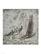 Drapery study for a kneeling figure in Profil Perdu