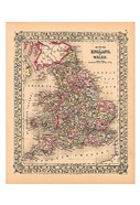 County Map of England and Wales, 1867
