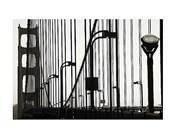Golden Gate Bridge in Silhouette
