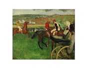 The Race Course: Amateur Jockeys near a Carriage, 1876-1887