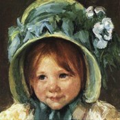 Child in Bonnet (detail)
