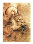 Detail of the Dragon from the drawing Fight between a Dragon and a Lion