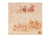 Study of Horsemen in Combat and Foot Soldiers, 1503