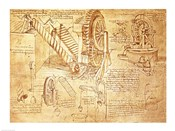 Facsimile of Codex  Atlanticus Screws and Water Wheels