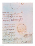 Detail from Study of the Illumination of the Moon 2r from Codex Leicester
