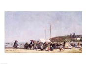 The Beach at Trouville, 1864