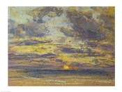 Study of the Sky with Setting Sun, c.1862-70