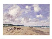 The Beach at Tourgeville, 1893