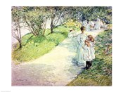 Promenaders in the garden, 1898