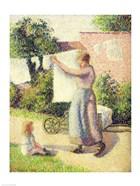 Woman Hanging up the Washing, 1887