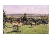 Hillside of Vesinet, Yvelines, 1871