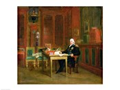Louis XVIII in his Study at the Tuileries