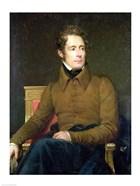 Portrait of Alphonse de Lamartine