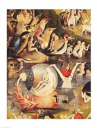 The Garden of Earthly Delights: Allegory of Luxury, people with birds detail