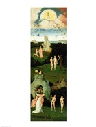 The Haywain: left wing of the triptych depicting the Garden of Eden, c.1500