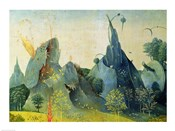 The Garden of Eden, detail from the right panel of The Garden of Earthly Delights, c.1500
