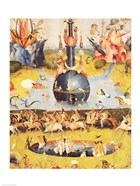 The Garden of Earthly Delights: Allegory of Luxury (yellow center panel detail)
