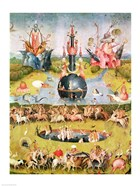 The Garden of Earthly Delights: Allegory of Luxury, animal central panel detail