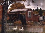 Geese at the Old Mill
