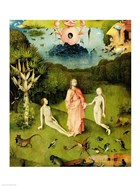 The Garden of Earthly Delights: The Garden of Eden, left wing of triptych, c.1500