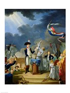 The Oath of Lafayette at the Festival of the Federation, 14th July 1790