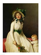Madame Pierre Seriziat with her Son