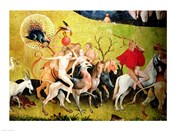 The Garden of Earthly Delights: Allegory of Luxury, detail of figures riding fantastical horses