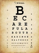 Mark Twain Eye Chart
