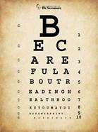 Mark Twain Eye Chart