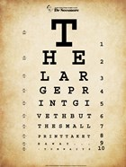 Tom Waits Eye Chart