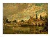The Bridge of Harnham and Salisbury Cathedral