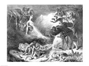 Faust and Mephistopheles at the Witches' Sabbath, from Goethe's Faust, 1828