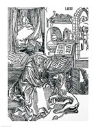 St. Jerome in his study pulling a thorn from a lion's paw