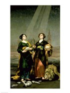 St. Justina and St. Rufina, 1817