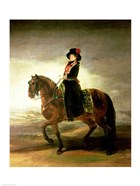 Equestrian portrait of Queen Maria Luisa