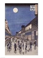 Night time view of Saruwaka Street