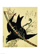 The Little Raven with the Minamoto clan sword