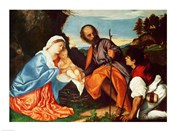 The Holy Family and a Shepherd