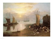 Sun Rising Through Vapour: Fishermen Cleaning and Selling Fish, c.1807