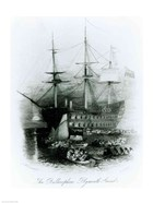 The Bellerophon at Plymouth Sound in 1815