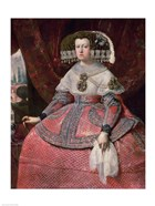 Queen Maria Anna of Spain in a red dress
